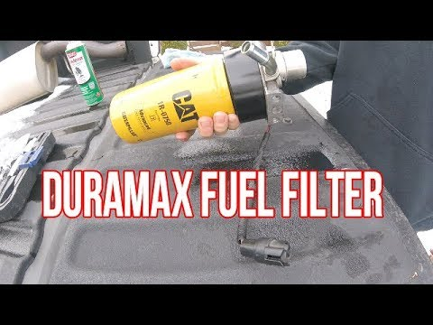 how to cat fuel filter on a duramax / rebuild filter housing