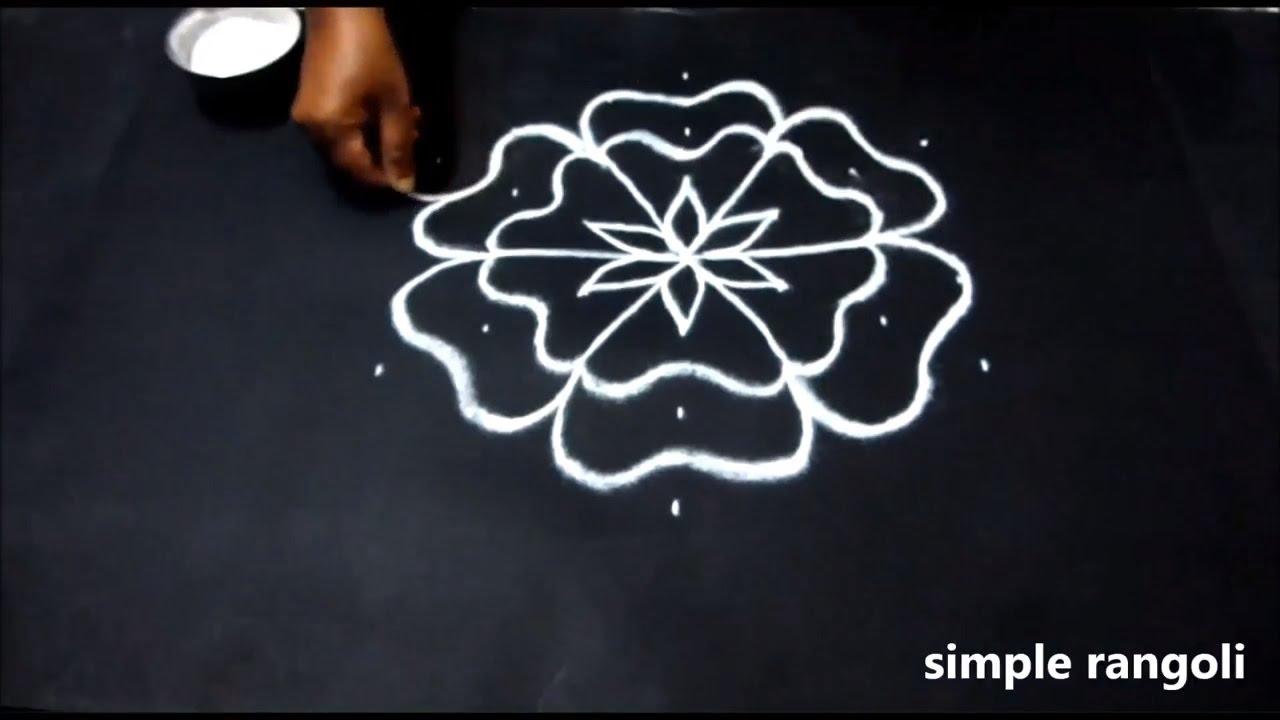 Simple Beginners Rangoli Design Small Kolam Designs With 7 X 4