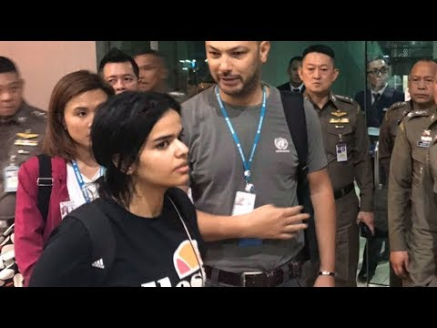 Saudi teen Rahaf Mohammed al-Qunun headed to Canada