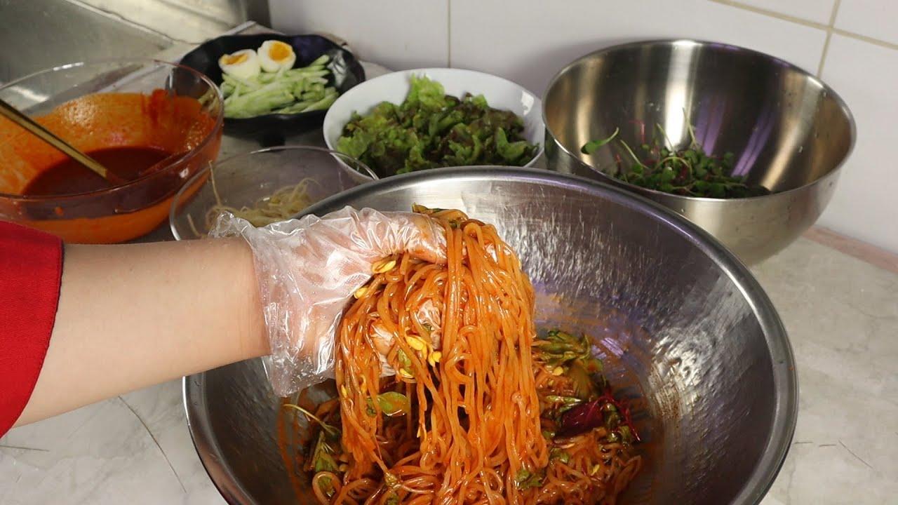 김밥천국 대박집 쫄면을 만들어봤습니다.