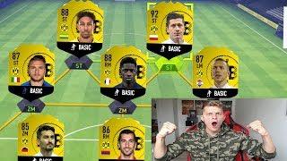 Das TEAM von DORTMUND in FIFA 19 ohne verkaufte Spieler! - Fifa 18 Fut Draft Ultimate Team