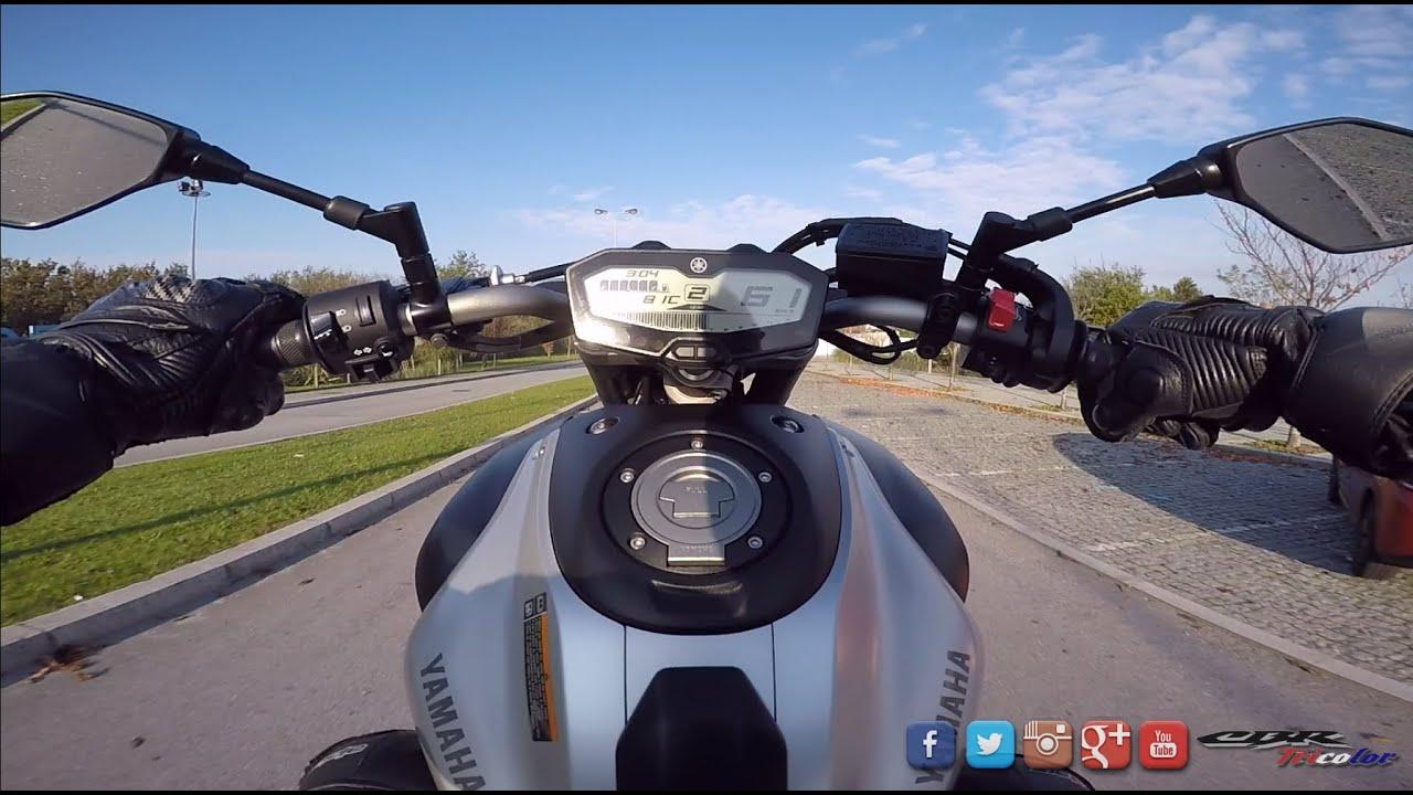 [ GOPRO ] MT 09 (FZ 09)| Le Havre Deauville | Wheeling
