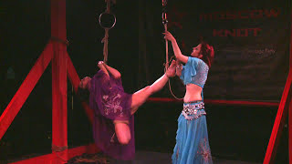 Секс ночи в Monaclub БДСМ, Moscow knot: Rija Mae & Afsana #2