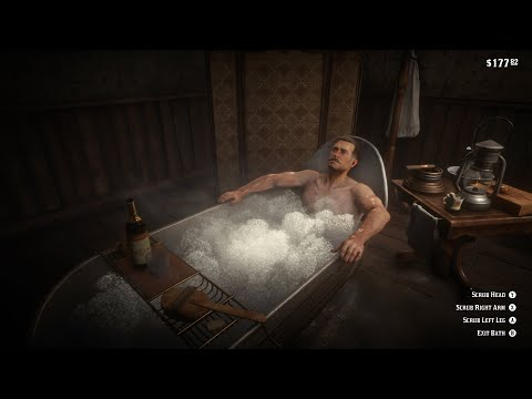 Red Dead Redemption 2 bathing & cleaning horse