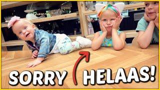 DiT ViNDEN DE KiNDEREN NIET LEUK! Bellinga Familie Vlog #1460