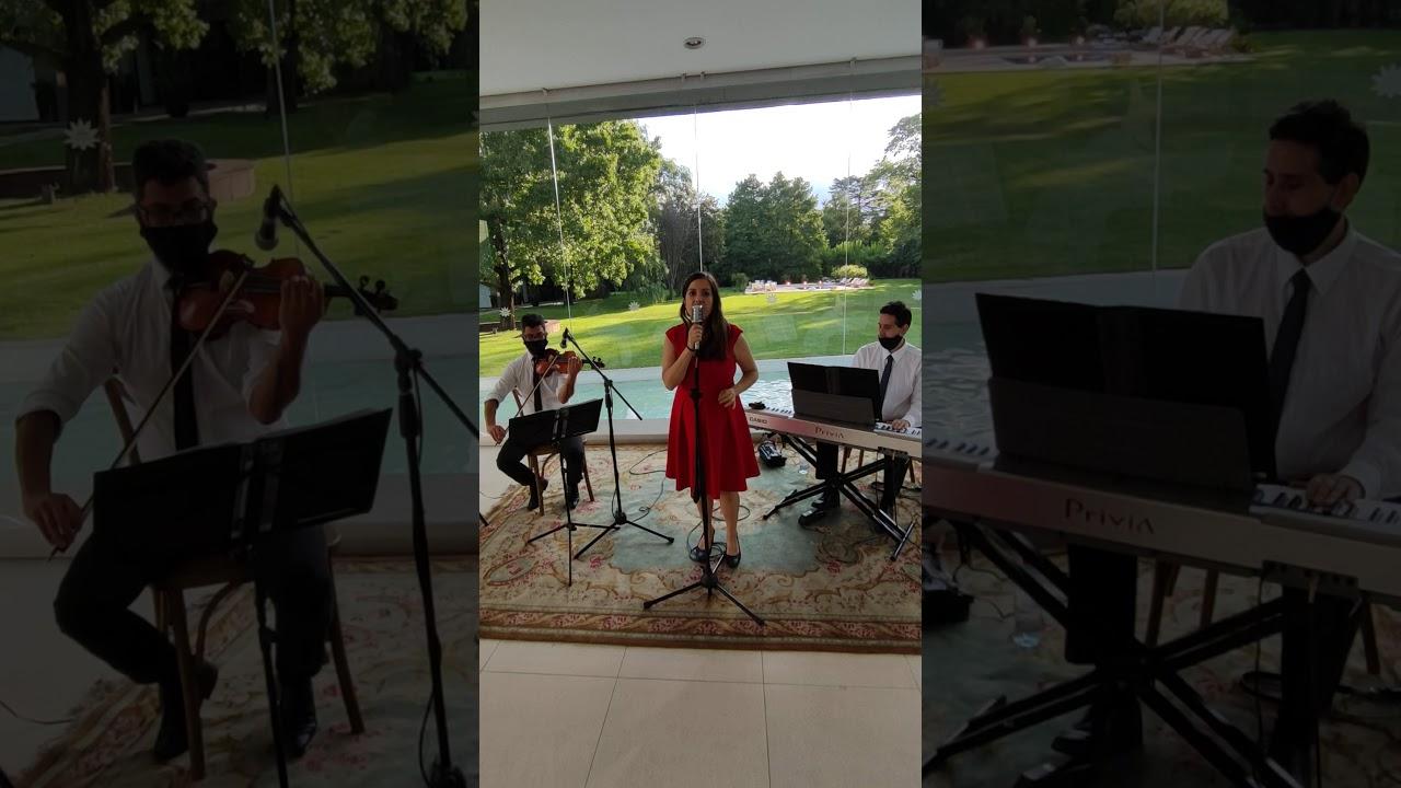 Show de violin cantante y pianista para casamiento en Espacio Pilar - Stand by me