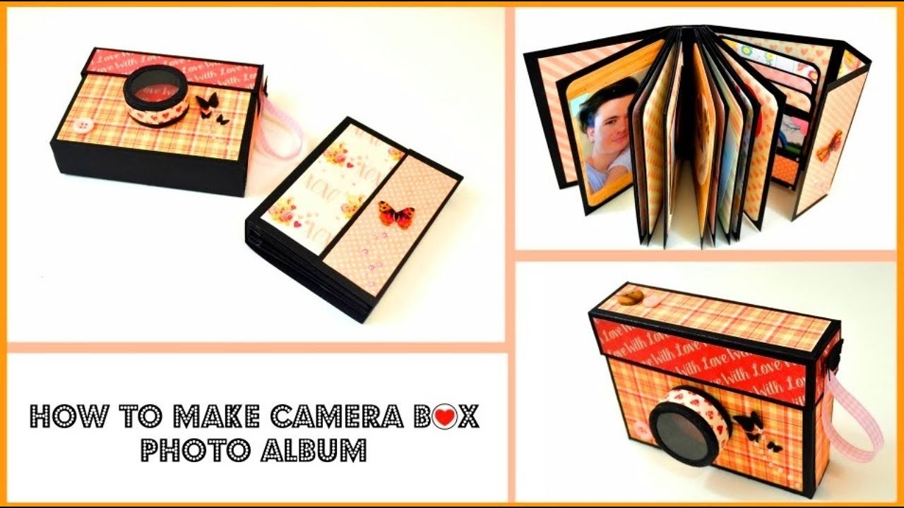 diy crafts - camera box card tutorial - valentine's day paper mini