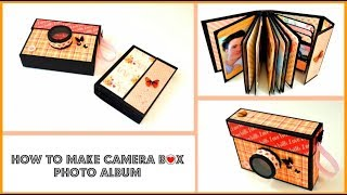 How to make a Scrapbook album in a Camera Box | DIY Photo Album | Gift Ideas - Giulia's Art