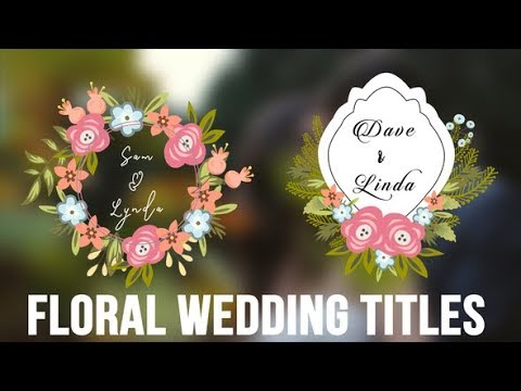 Wedding Floral Titles Pack   After Effects template thumbnail
