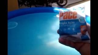 Como tratar piscina inflável:  Modo alternativo
