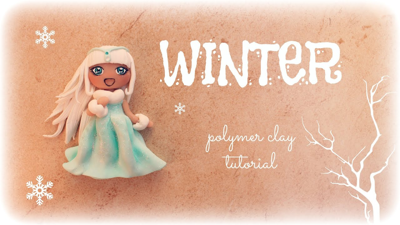 4 seasons winter polymer clay tutorial doll chibi youtube baditri Images