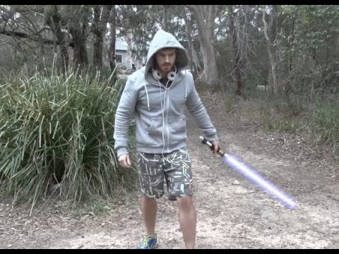 Jogger Finds a Lightsaber