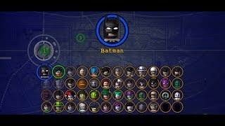 LEGO BATMAN THE VIDEOGAME ALL CHARACTERS UNLOCKED