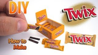 DIY Miniature Twix Bars | DollHouse food, accessories and Toys for Barbie | No Polymer Clay!