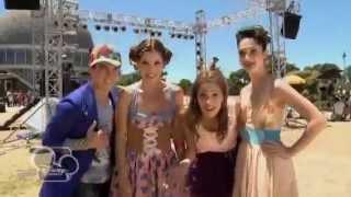Violetta - съёмки клипа En mi mundo.