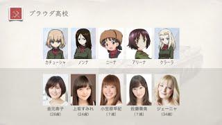 テレビ、OVA、劇場版、ガールズ&パンツァー全チームの声優さん.