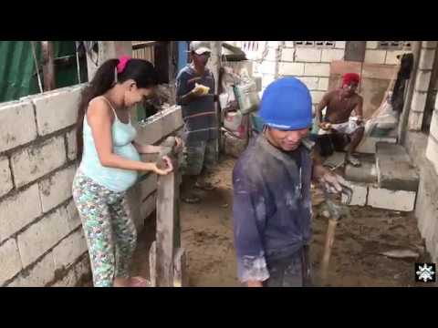 Foreigner in the Philippines - Aheezy Cribs - Asawa put back to work - the bottom patio construction