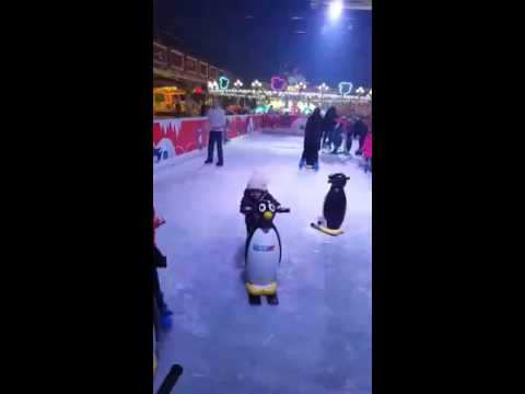 Theo ice skating today