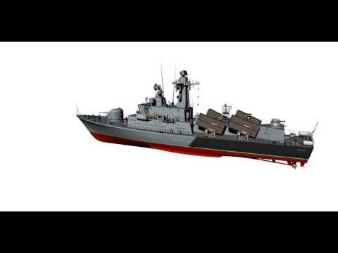"""Missile boat project 660/151 ORP """"Orkan"""" type Polish Navy."""