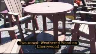 Amish Made Polywood Pub Table And Balcony Chairs