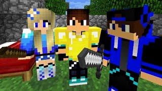 С РОДИТЕЛЯМИ В МАЙНКРАФТ :)) ЧАСТЬ 1. Выживание в Майнкрафте с Мамой и Папой. Minecraft PE 0.14.2