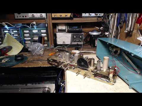 AF-610 Japanese AM/FM Tube Radio Video #10 - Slow FM Start-up