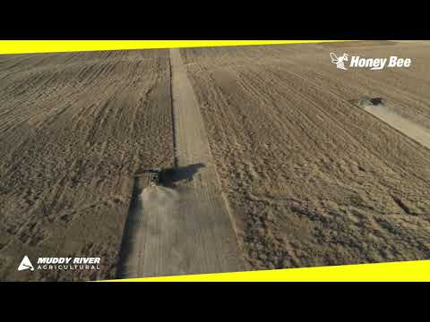 Combines Working Lodged Canola With Massive 50' AirFLEX Headers