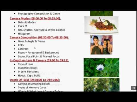Photography - Photography classes in bangalore - Real Time - Course Introduction