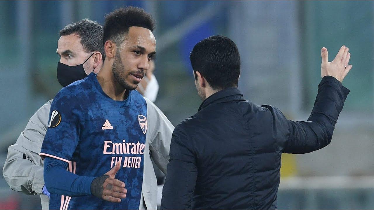 Aubameyang laments misses in UEL, Arteta backs 'unlucky' Arsenal ...