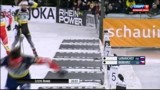 БИАТЛОН Семенов и Семеренко победители Рождественской гонки 2014