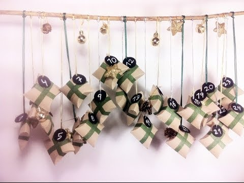 How to Make an Advent Calendar using Toilet Paper Rolls