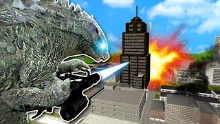 I Became Godzilla & Destroyed a Tiny City!  Garry's Mod Multiplayer Gameplay