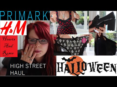 High Street Haul - PRIMARK, H&M, 50's Dresses and Gothic Shoes