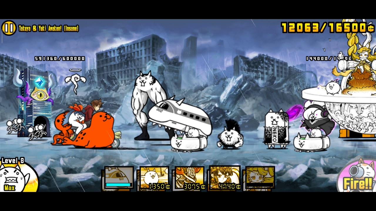 [Battle Cats] Takuya And Yuki Awakens | Veteran / Insane