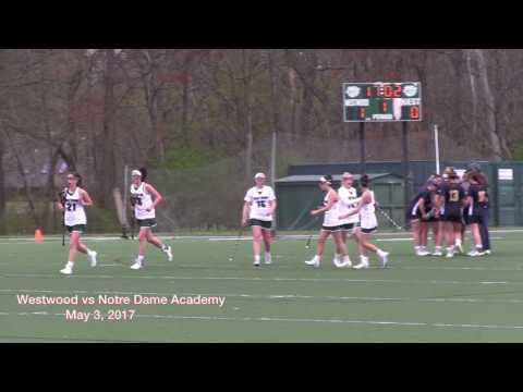 WHS Girls Lacrosse vs Notre Dame Academy  5/3/17