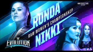 RONDA ROUSEY VS NIKKI BELLA RAW WOMAN CHAMPIONSHIP