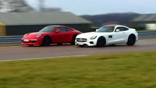 Battle race Mercedes AMG GT S vs Porsche 911