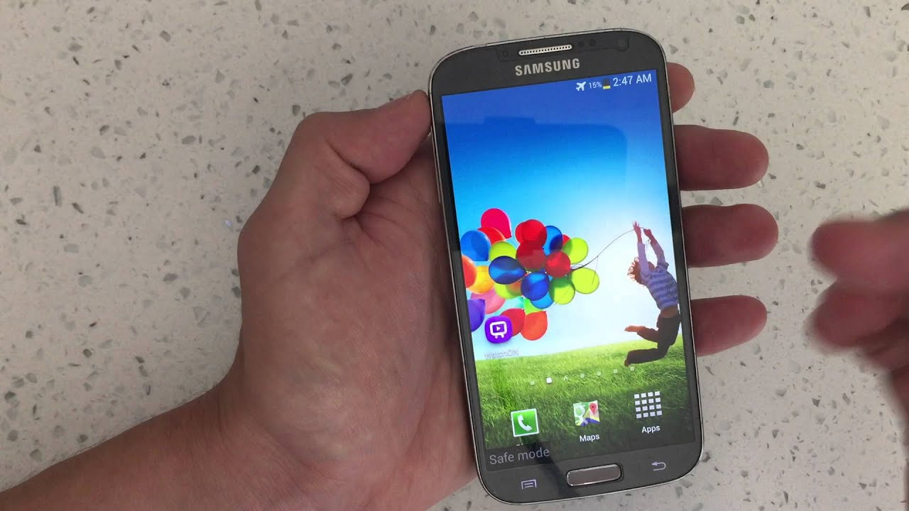 how to put your galaxy s4 in safe mode
