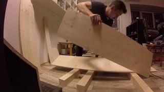 Строительство барной стойки для чайного клуба Процесс