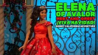 Elena of Avalor meet-and-greet during ¡Viva Navidad! at Disney California Adventure