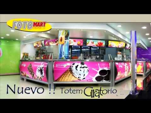 Totem Giratorio Fotomart Publicidad Para Paleterias Y Neverias La