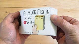 100k Subscribers Silver Play Button Flipbook (Flipbook Fishin' on Lake Youtube)