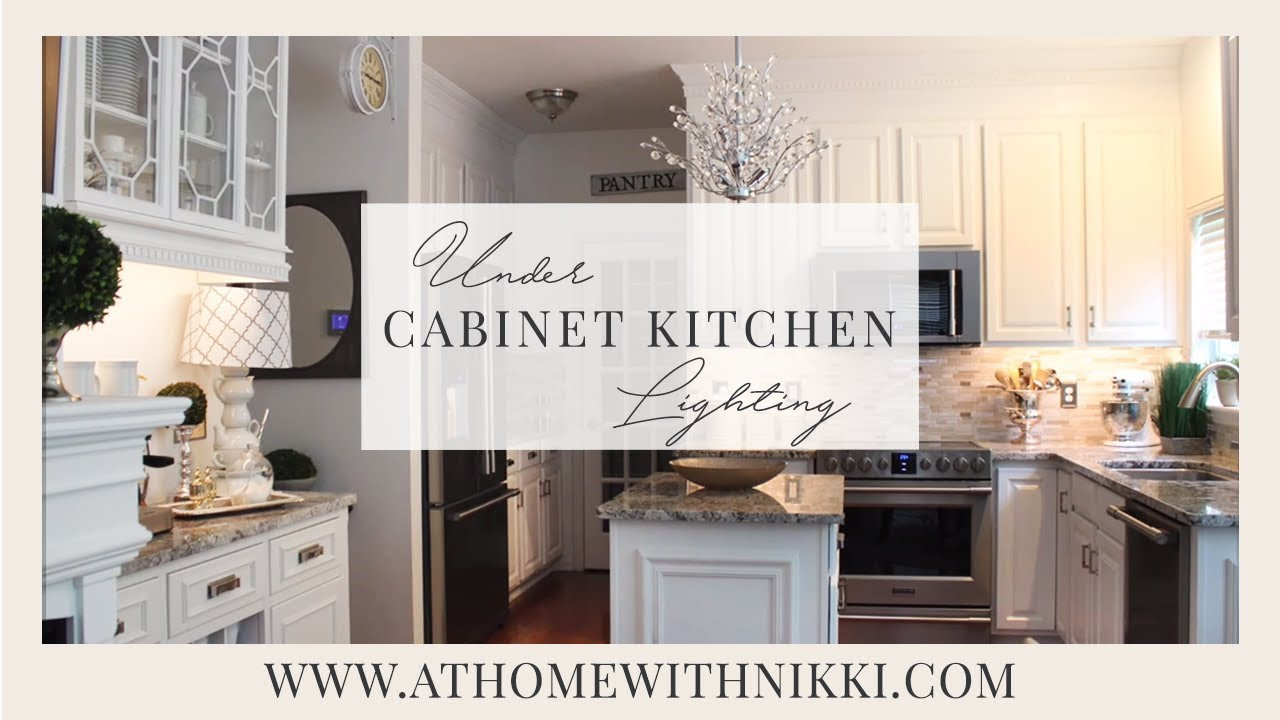 easy under cabinet kitchen lighting youtube