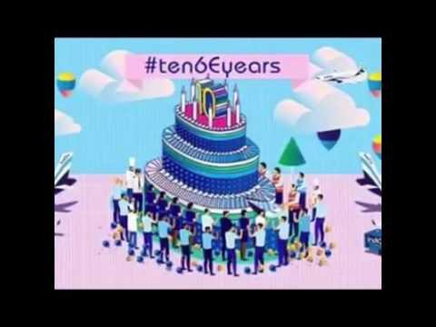 """IndiGo Airlines #tenyears Happy B""""day.. Jason Rufus"""