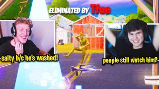 TFUE Reacts to BUGHA *ROASTING HIM* then SAYS THIS! (Fortnite Season 2)