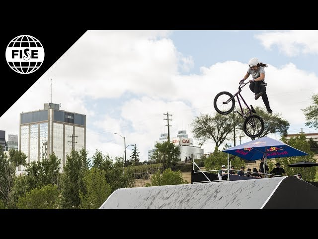 Lara Lessmann 2nd Place - UCI BMX Freestyle Park Women World Cup Final | FISE Edmonton 2018