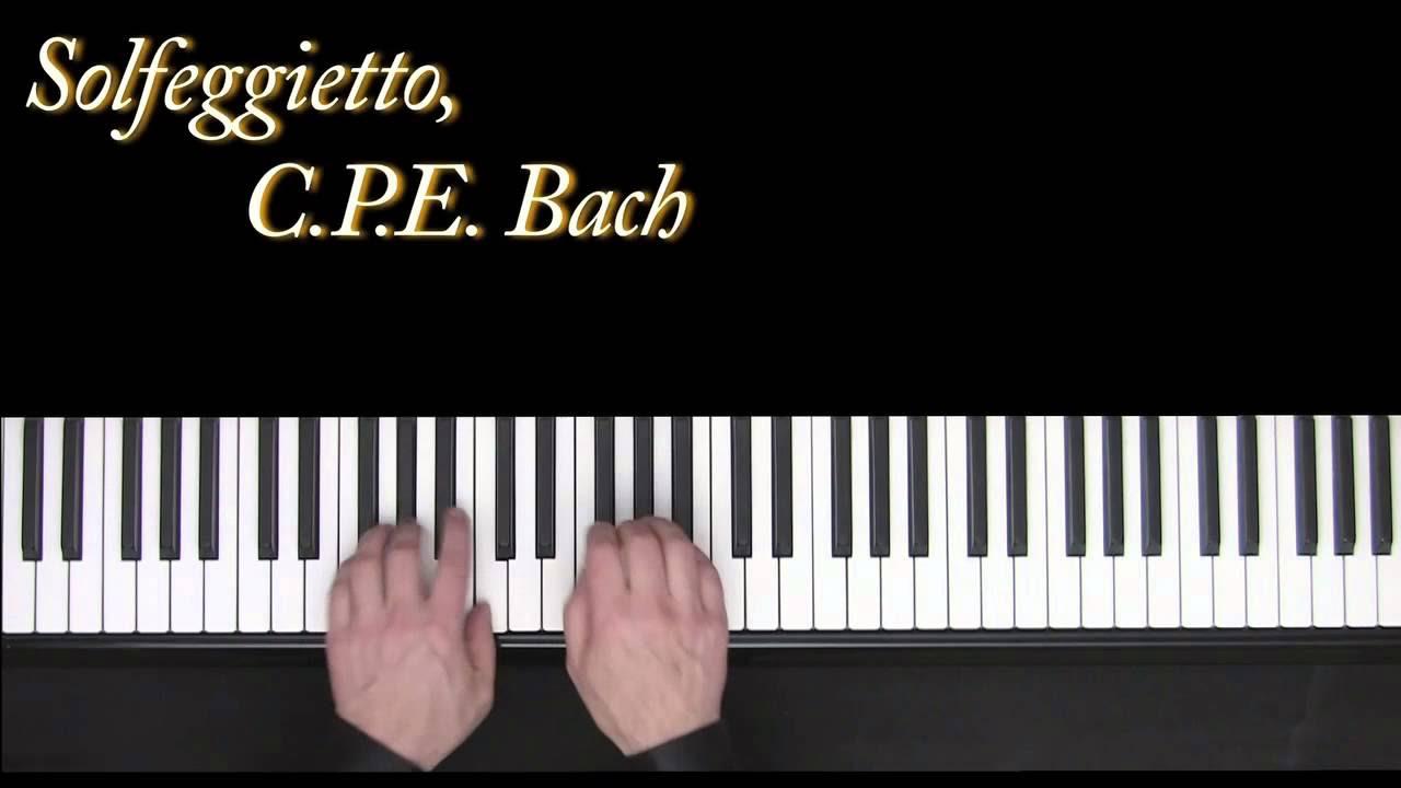 Solfeggietto - C.P.E. Bach - piano - Frederic Bernachon