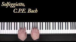 solfeggietto c p e bach piano frederic bernachon