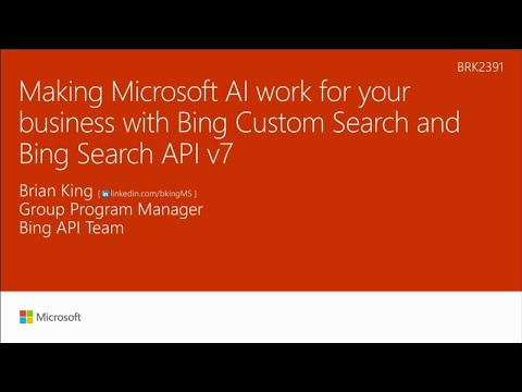 Making Microsoft AI work for your business with the custom Search capabilities of Cognitive