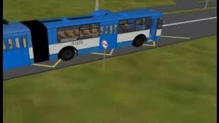 Bus, tram and trolley bus. Автобус, трамвай и троллейбус. Развивающий мультик для детей